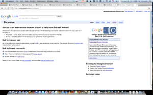 Google Chromium no Mac OS X (10.5.7)